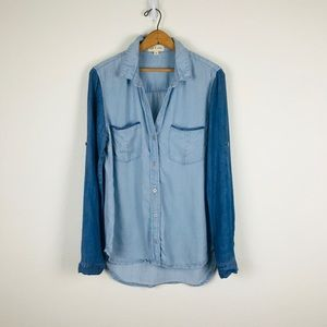 Cloth & Stone Anthropologie Chambray Blouse